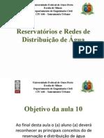 Aula 10 - Reservacao e Redes de Distribuicao de Agua