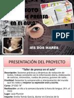 """Proyecto Taller de Prensa en el IES """"Dos Mares"""""""