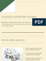 La Politica Ambientale Europea (B.Cotta) Pt. 3