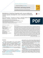 Multiobjective evolutionary algorithm with a discrete differential mutation operator developed for service restoration in distribution systems 1-s2.0-S0142061514002798-main