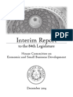 House Committee on Economic and Small Business Development Interim Report 2014