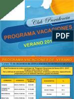 Programa Vacaciones de Verano 2014-2015