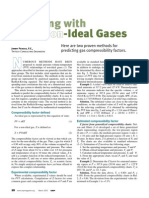 Compressibility for Non Ideal Gases