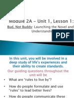 bud- unit 1 lesson 1