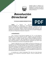 Resolución Aprobando Nomina, Actas y Registros Promicon Los Innovadores Campos