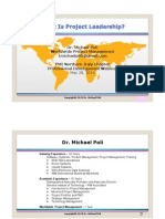 Dr Michael Poli What is Project Leadership