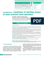 Computer Simulation of Working Stress