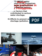 Water Shortage in the Philippines