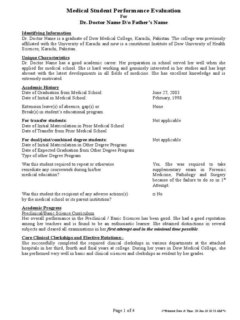 mspe word | Medical | United States Medical Licensing Examination Medical Student Performance Evaluation on acc aha preoperative evaluation, medical student evaluation form, medical student education, medical faculty evaluation,