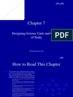 Designing Science Units and Courses of Study