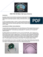 End Fed 40Meter half wave antenna