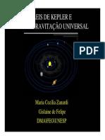 leis de kepler e lei da gravitação universal