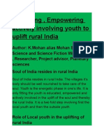 Educating Empowering, Actively Involving Youth to Uplift Rural India- Poster