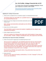 guide to fafsa questions