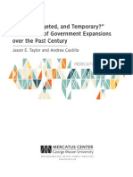"""Timely, Targeted, and Temporary?"" An Analysis of Government Expansions over the Past Century"