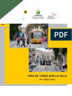 Prix These Sur La Ville 2014