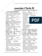 Practice Set- II Sbi Associate Clerk