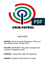 News Broadcasting Script | Rodrigo Duterte | Politics