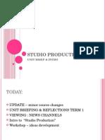 Studio Production Brief