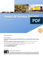 Sample Syllabus Checklist