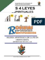 Las 4 Leyes Espirituales - Libro