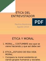 Etica del Entrevistador