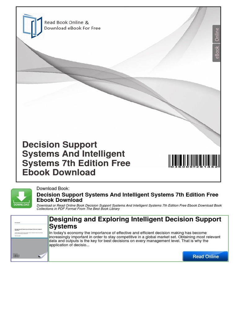 Decision support systems and intelligent systems 7th edition free decision support systems and intelligent systems 7th edition free ebook download decision support system technology fandeluxe
