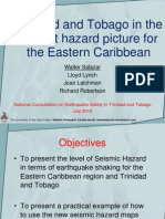 Trinidad and Tobago in the current hazard picture for the Eastern Caribbean