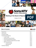 SONY/ATV Meeting of the Board of Representative (October 21, 2014)
