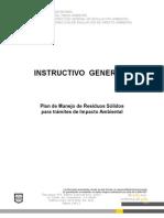 Instructivo del Plan de Manejo de Residuos Solidos SEDEMA- DF