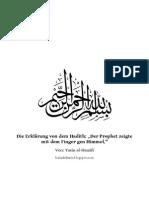 Die Erklärung Von Dem Hadith Der Prophet Zeigte Mit Dem Finger Gen Himmel.(1)