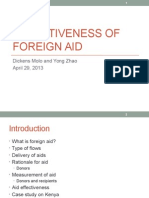 Effectiveness of Foreign Aid