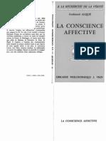 Alquie La Conscience Affective