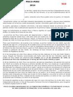 Aniversario de La Fundación Española de Pisco