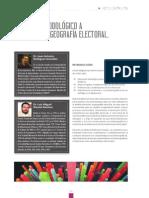 ANÁLISIS METODOLÓGICO A PARTIR DE LA GEOGRAFÍA ELECTORAL.