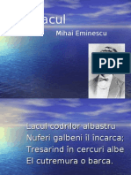 Lacul de Mihai Eminescu