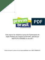 Prova Objetiva Fisioterapeuta Prefeitura de Tangara Da Serra Mt 2011 Instituto Cidades