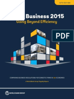 Doing Business 2015 Going Beyond Efficiency