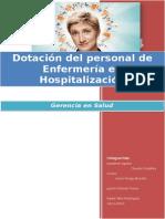 Dotacion en Hospitalizacion