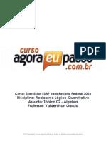 PDF AEP AuditorExercicios RaciocinioLogicoQuantitativo MaterialdeApoio02 ValdenilasonAlvesGarcia