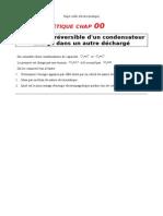 Decharge Irreversible Condensateur Dans Condensateur Non Charge