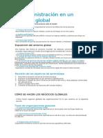Capítulo 4 La Administración en Un Entorno Global