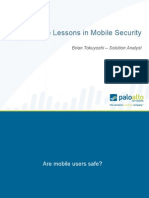 Five Lessons in Mobile Security - Preso for Lunch & Learn