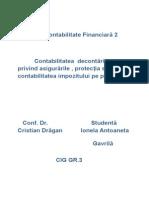 Proiect Contabilitate Financiară 2