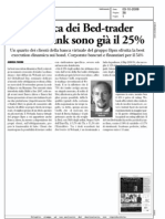 La carica dei Bed-trader. Per Webank sono già il 25% (Borsa&Finanza, 03-10-2009)