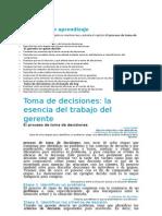 Capítulo 6 Toma de Decisiones La Esencia Del Trabajo Del Gerente