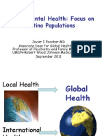 Salud mental en paises latinoamericanos