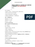 CALCULO DEL RENDIMIENTO DE CULTIVO DE CONCHA DE  ABANICO  - ACTUALIZADO