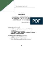 Macroeconomie - Cap 4. Cresterea si dezvoltarea economica. Fluctuatiile act~