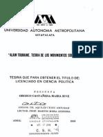 tesina sobre movimientos sociales, alain touraine. orozco castañeda